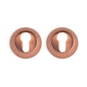 Комплект накладок на евроцилиндр РОССА-ET-AR1 (Античная медь)
