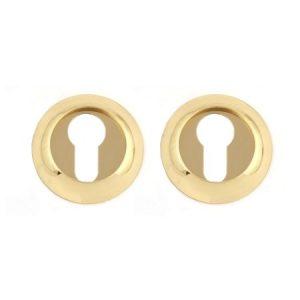 Комплект накладок на евроцилиндр РОССА-ET-P1 (Золото полированное)